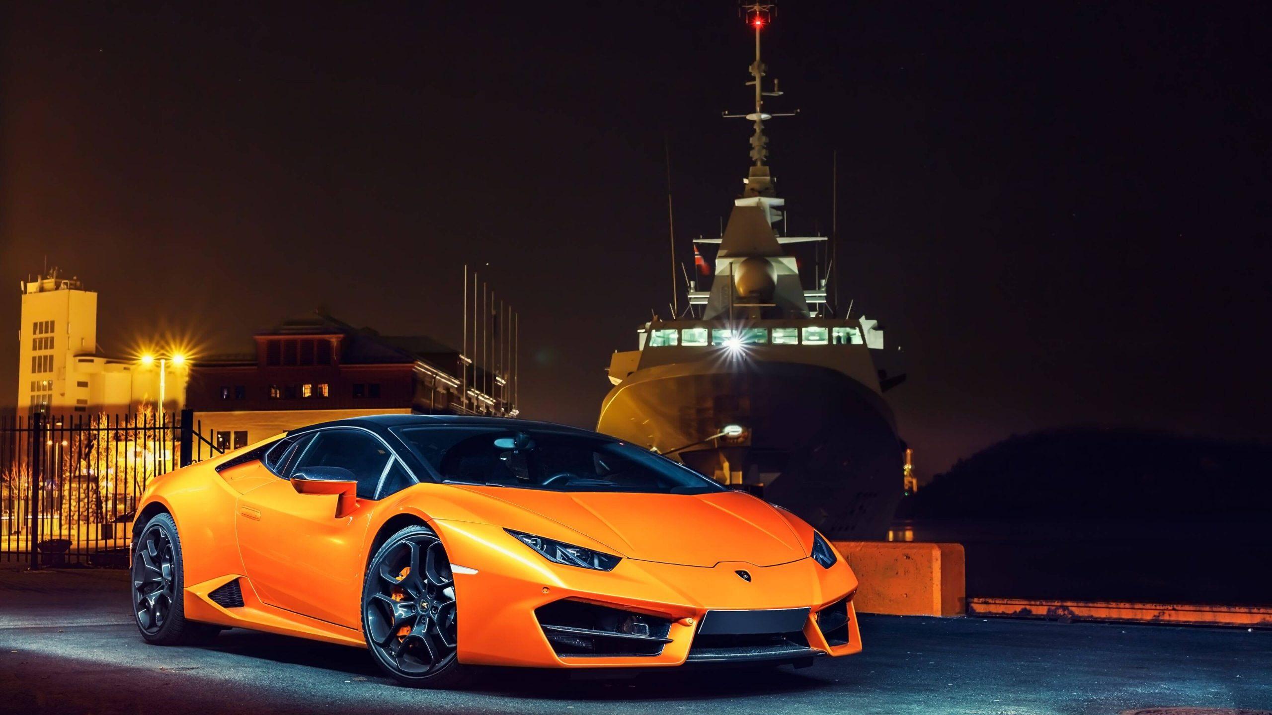 Lamborghini Huracan hire orange2
