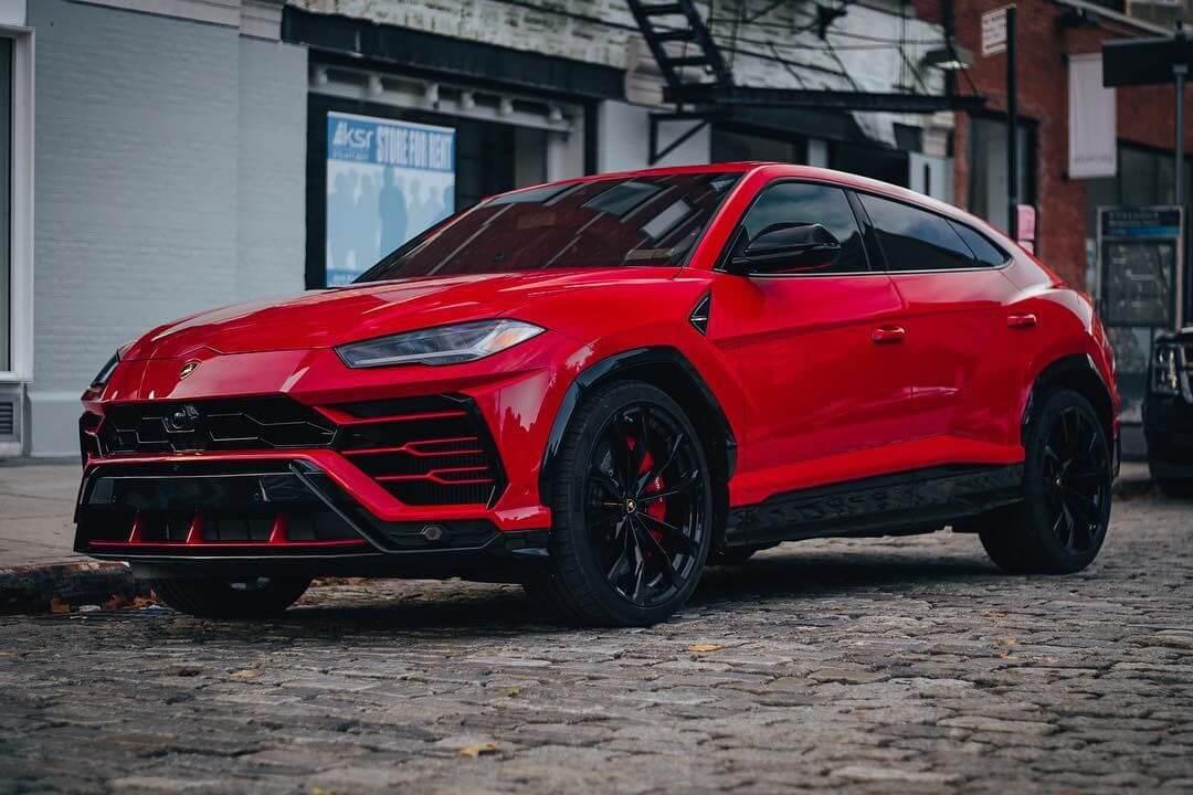 Lamborghini urus hire in red-2